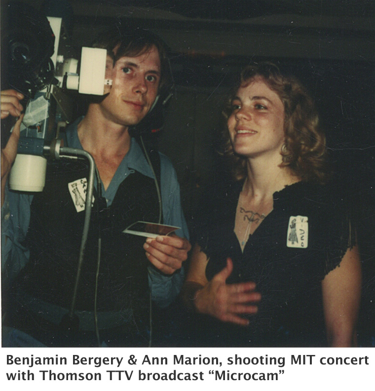 Benjamin Bergery and Ann Marion with early Thomson Microcam at MIT concert-
