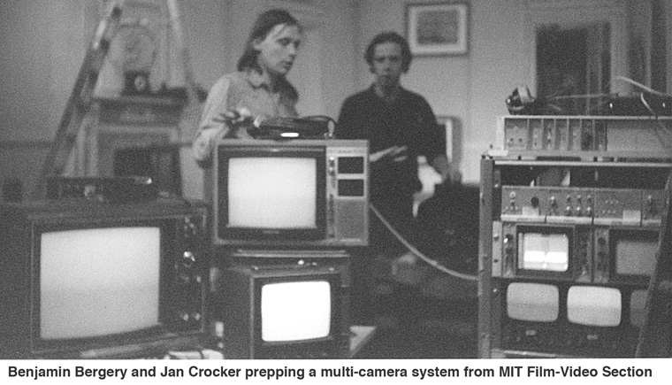 Benjamin Bergery and Jan Crocker prepping a multi-camera system MIT Film-Video-