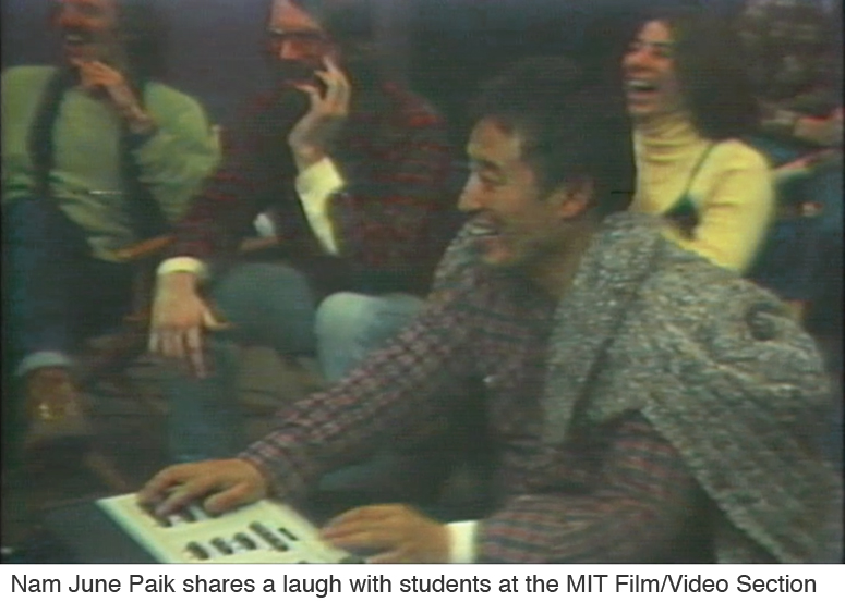 Nam June Paik at the MIT Film-Video Section