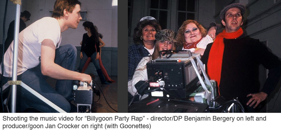 Shooting music video for Billygoon Party Rap - director-DP Benjamin Bergery and producer-goon Jan Crocker-